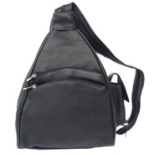 <strong>Piel Leather</strong> Fashion Avenue Two Pocket Sling Backpack