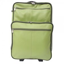 "Pastel Leather 22"" Wheeled Traveler Suitcase"