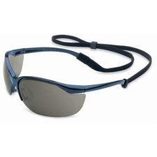 Vapor® Safety Glasses With Metallic Blue Frame And TSR Gray Hard Coat Lens