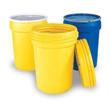 "30 Gallon Polyethylene Containment Overpack Drum With Metal Lever Lock Ring 21 1/8"" X 28 1/2"""