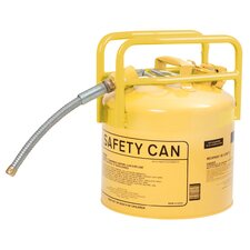"5 Gal Transport Safety Can Type II with Diesel and 0.87"" Flexible Hose"