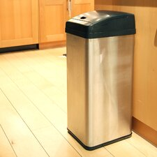 13-Gal. Square Extra-Wide Opening Touchless Trash Can