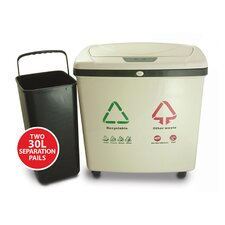 Automatic16 Gallon Multi Compartment Recycling Bin