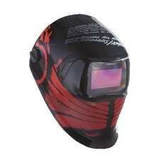 Black And Red Tribal Design Welding Helmet 100 With Variable Shade 40402 Auto-Darkening Lens