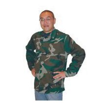 "30"" Camouflage 9 Ounce Westex® Proban® FR7A® Cotton Flame Retardant Jacket With Snap Front Closure"