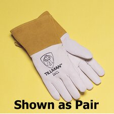 "Premium Top Grain Pearl Kidskin MIG/TIG Welder's Glove With 4"" Cuff, Straight Thumb And Para-aramid synthetic fiber® Thread Right Hand Only"