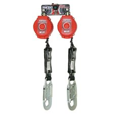 <strong>Miller Fall Protection</strong> Sperian Twin Turbo™ Fall Protection System Kit With D-Ring Connector And 2 ANSI Z359-2007 Compliant MFL-3-Z7/6FT TurboLite™ Personal Fall Limiters With Locking Snap Hooks