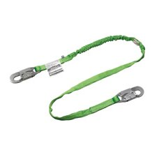 Green Two Leg Manyard® II Shock-Absorbing Stretchable Web Lanyard With 2 Locking Snap Hooks