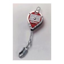 20' Galvanized Steel Self Retracting Lifeline With Carabiner And Tag Line
