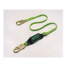 Lime Green Backbiter™ Shock-Absorbing Tie-Back Lanyard With 5000 Pound Locking Snap Hook And One Locking Snap Hook And SofStop® Shock Absorber