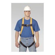 <strong>Miller Fall Protection</strong> Universal Full Body Harness With Sliding Back D Ring Matting, Buckle Legs, Chest, Shoulder Straps And Sub-Pelvic Strap