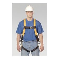Size Titan T-Flex™ Stretchable Polyester Full Body Harness With Back And Side D-Rings, Matting Should Strap & Chest Buckles, Tongue Buckle Leg Straps And Sub-Pelvic Strap
