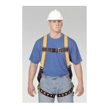 Full Body Harness With Tongue Buckle Leg Straps And Sliding Back D-Ring