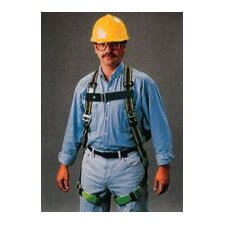 Green DuraFlex Full Body Harness With Friction Shoulder Strap Buckles And Matting Buckle Leg Straps