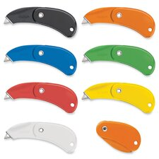 Pocket Safety Cutter, Auto-Retract, Foldable, 12 per Pack, Assorted