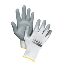 White Pure Fit™ 13 Cut Light Weight Gray Foamed Nitrile Palm Coated Nylon Gloves (144 Per Case)