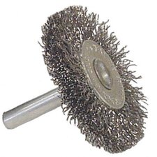 "1/2"" Coarse Wire Utility Wheel Brush With 1/4"" Stem"