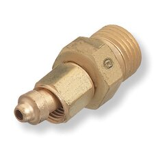 #105 B Right Hand Male X A Right Hand Female Brass Hose Adapter For Oxygen