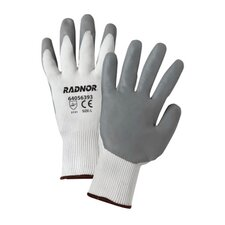 <strong>Radnor</strong> White Premium Foam Nitrile Palm Coated Work Glove With 15 Gauge Seamless Nylon Liner And Knit Wrist