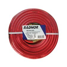 "<strong>Radnor</strong> 3/16"" X 12 1/2 foot Grade R Twin Welding Hose With BB Fittings"