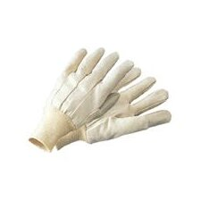 10 Ounce Economy Cotton Canvas Work Glove With Knitwrist And Straight Thumb
