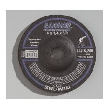"1/2"" X .125"" X 7/8"" A24R Aluminum Oxide Type 27 Depressed Center Cut Off Wheel For Use With Right Angle Grinder On Steel And Metal"
