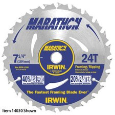 "MARATHON® 14031 7 1/4"" X 40 Tooth X Universal 5/8"" Thin Kerf Carbide Tipped Circular Saw Blade For Wood (Carded)"
