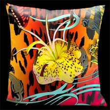 Butterflies with Animal Print Pillow