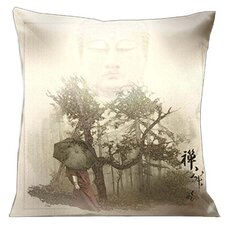 Zen Buddha Walking in the Forest Pillow