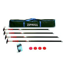 Low Cost ZipPole™ Spring Loaded Pole 4-Pack Kit with Carry Bag