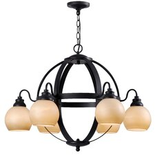 Magellen 6 Light Globe Chandelier