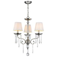 Cassandra 3 Light Crystal Chandelier