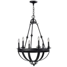 Magellen 6 Light Candle Chandelier
