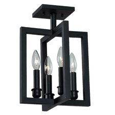Cathedral 4 Light Semi Flush Mount