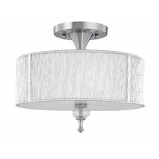 Uptown Contemporary 3 Light Semi Flush Mount
