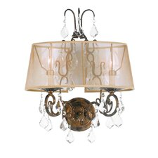 <strong>World Imports</strong> Belle Marie 2 Light Wall Sconce