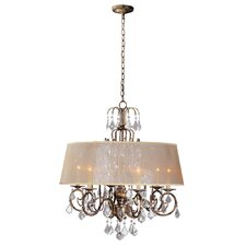 Belle Marie 6 Light Crystal Chandelier