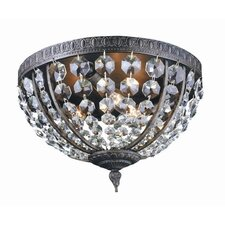 Bijoux 3 Light Flush Mount