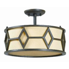<strong>World Imports</strong> Decatur 3 Light Semi Flush Mount