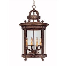 French Country Influence 4 Light Hanging Lantern