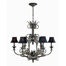 <strong>World Imports</strong> Sophisticated Iron 6 Light  Chandelier