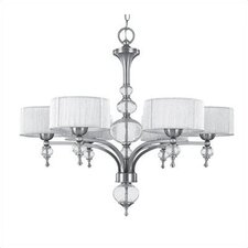 Uptown 6 Light Contemporary Chandelier