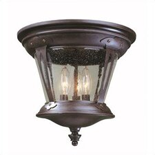 <strong>World Imports</strong> Old World Charm 3 Light Outdoor Flush Mount