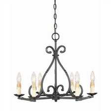 Inspirational Iron 6 Light Chandelier