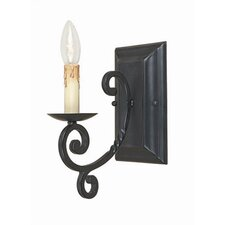Inspirational Iron 1 Light Wall Sconce