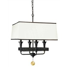 Uptown Gallery 4 Light Drum Foyer Pendant