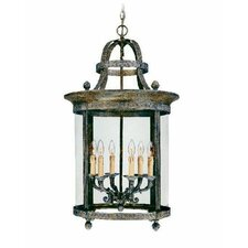 French Country Influence 6 Light Hanging Lantern