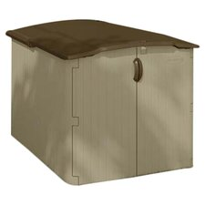 "4'9.5"" W x 6'7.75"" D Resin Storage Shed"