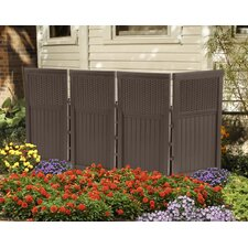 4 Panel Resin Wicker Outdoor Screen