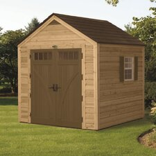 "7'10"" W x 7'10"" D American Wood Storage Shed"